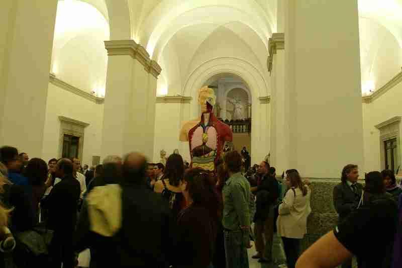 Damien Hirst al museo Nazionale di Napoli
