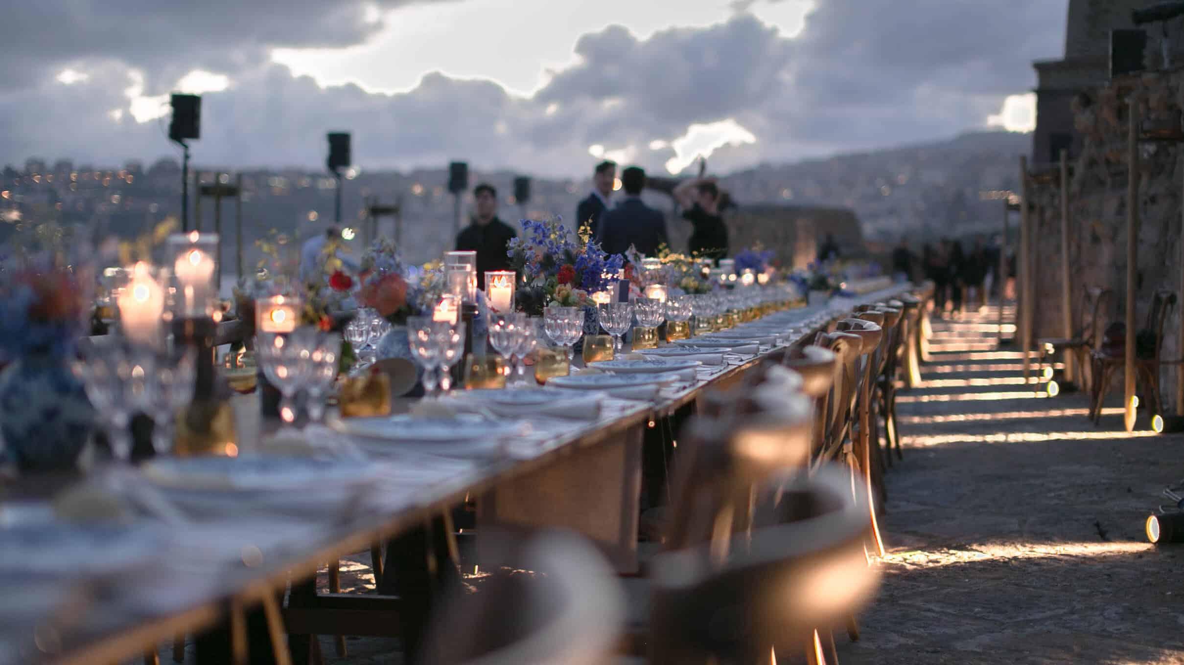 Cena di gala evento aziendale a Castel dell'ìOvo