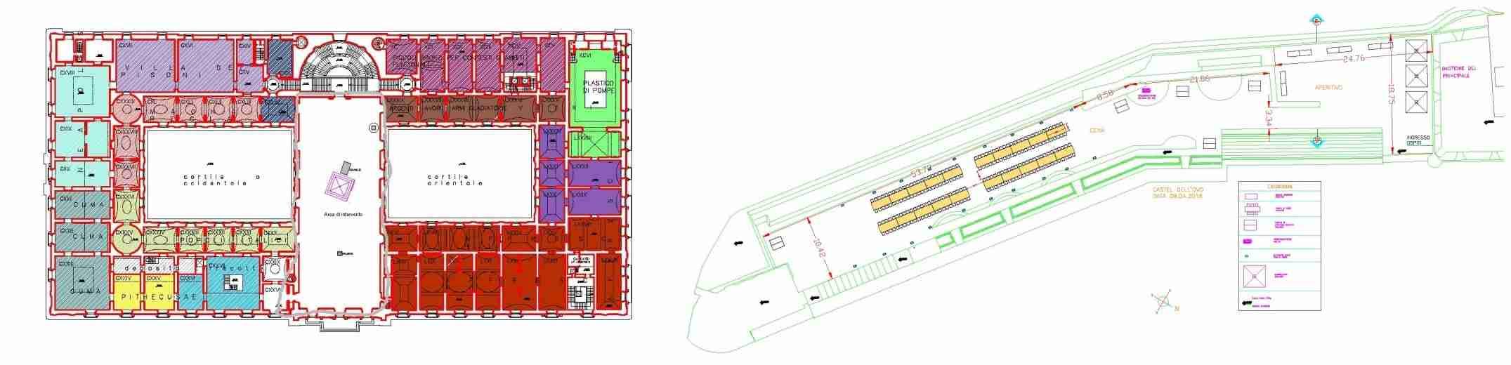 Plan Museo Nazionale e castel dell'Ovo