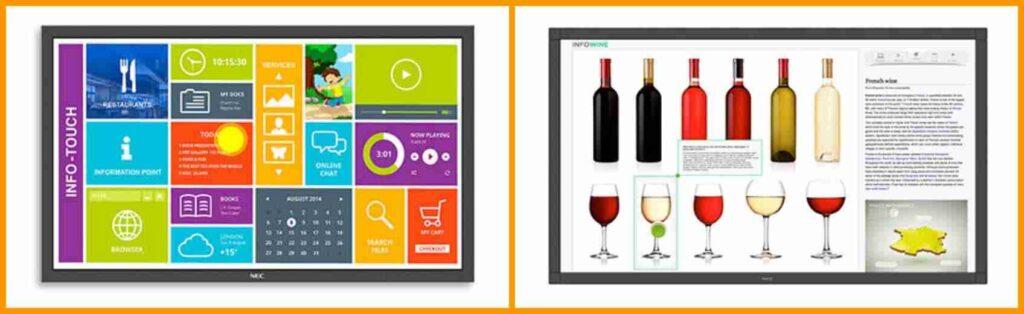 Soluzioni interattive con monitor video per il digital signage