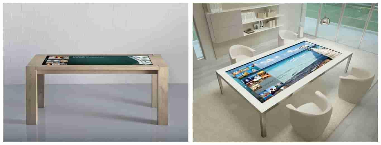 Tavolo multimediale touch screen e soluzioni di Digital Signage