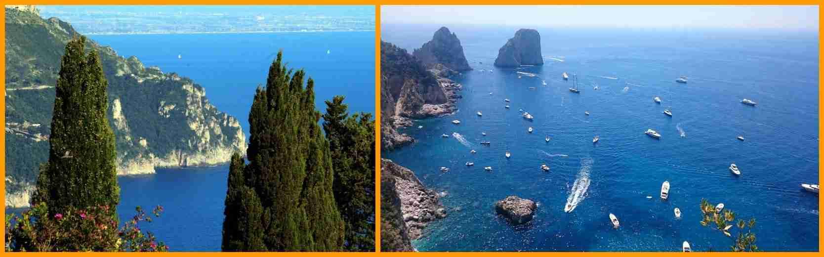 veduta dei Faraglioni di Capri