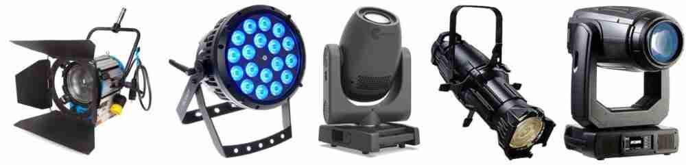 attrezzature luci per eventi